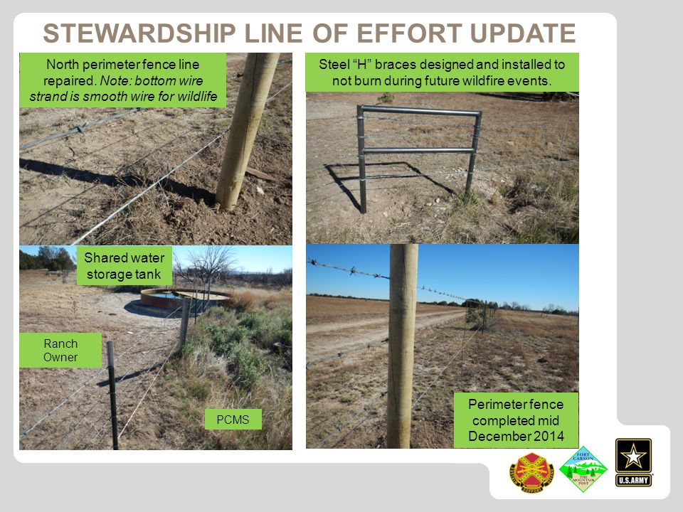 North perimeter fence line repaired.