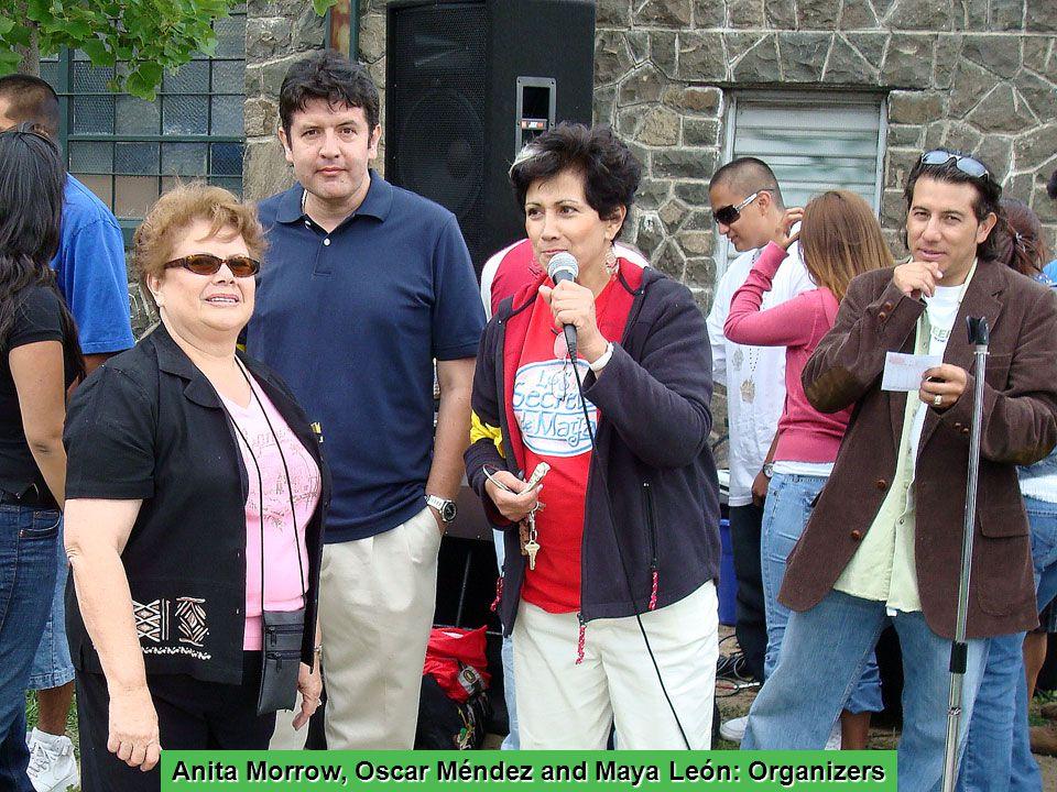 Anita Morrow, Oscar Méndez and Maya León: Organizers