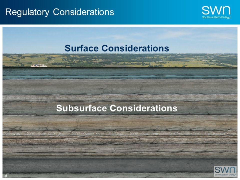 Regulatory Considerations Surface Considerations Subsurface Considerations 4