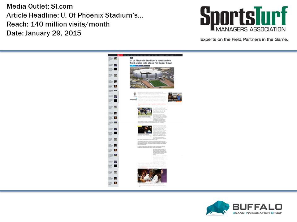 Media Outlet: SI.com Article Headline: U.Of Phoenix Stadium's...
