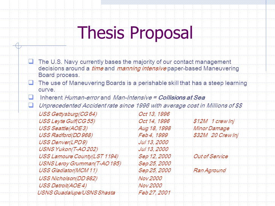 Thesis Proposal Cont…  The purpose of this research is to implement a stand-alone system that is timely and accurate.
