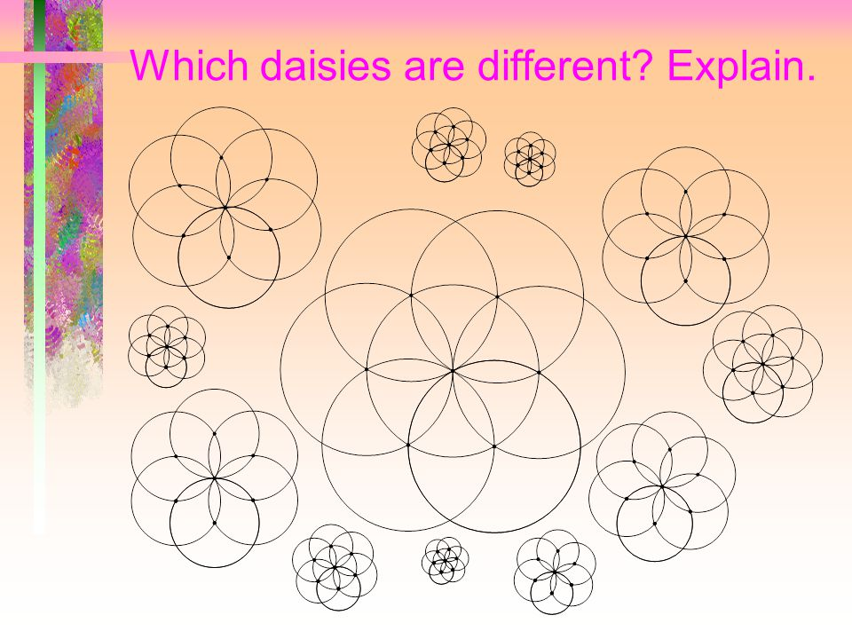 Fill the plane with daisies. Repeat the pattern again and again or create a tool.