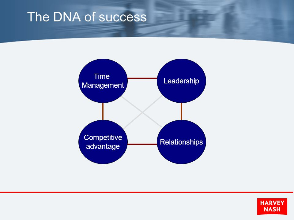 The DNA of success Leadership Relationships Time Management Competitive advantage