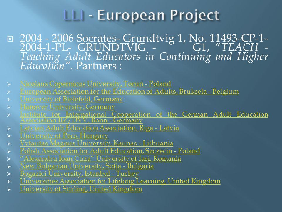 2004 - 2006 Socrates- Grundtvig 1, No.