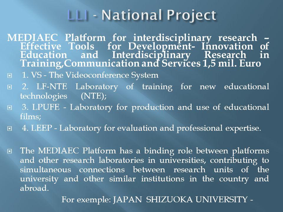 MEDIAEC Platform for interdisciplinary research – Effective Tools for Development- Innovation of Education and Interdisciplinary Research in Training,