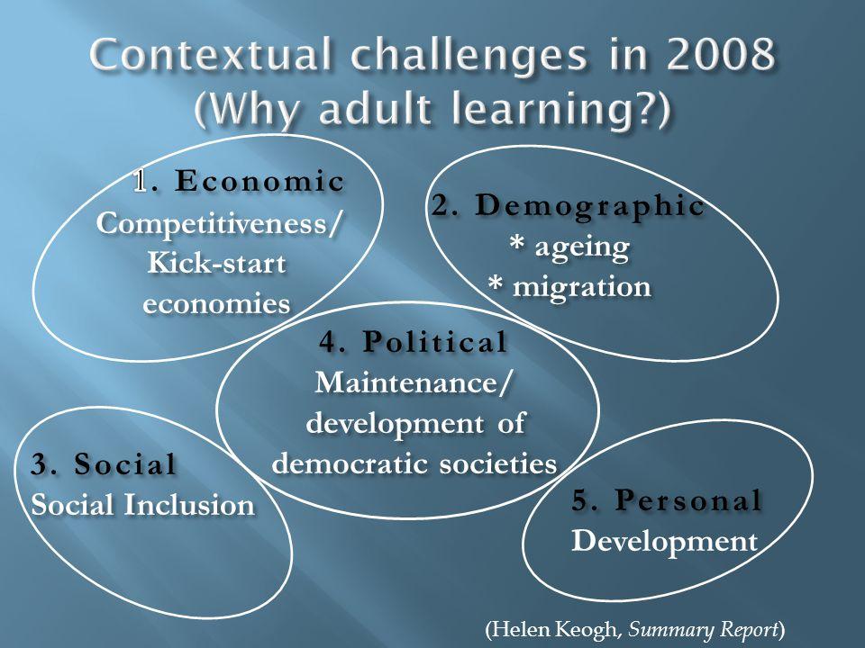 2. Demographic * ageing * migration 3. Social Social Inclusion 5.