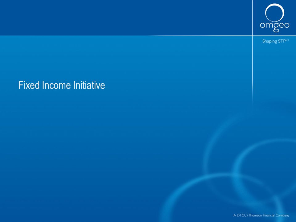 Fixed Income Initiative