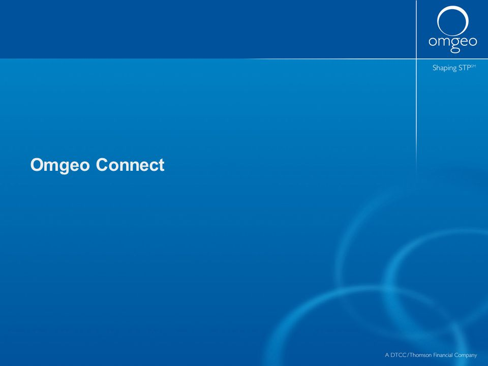 Omgeo Connect