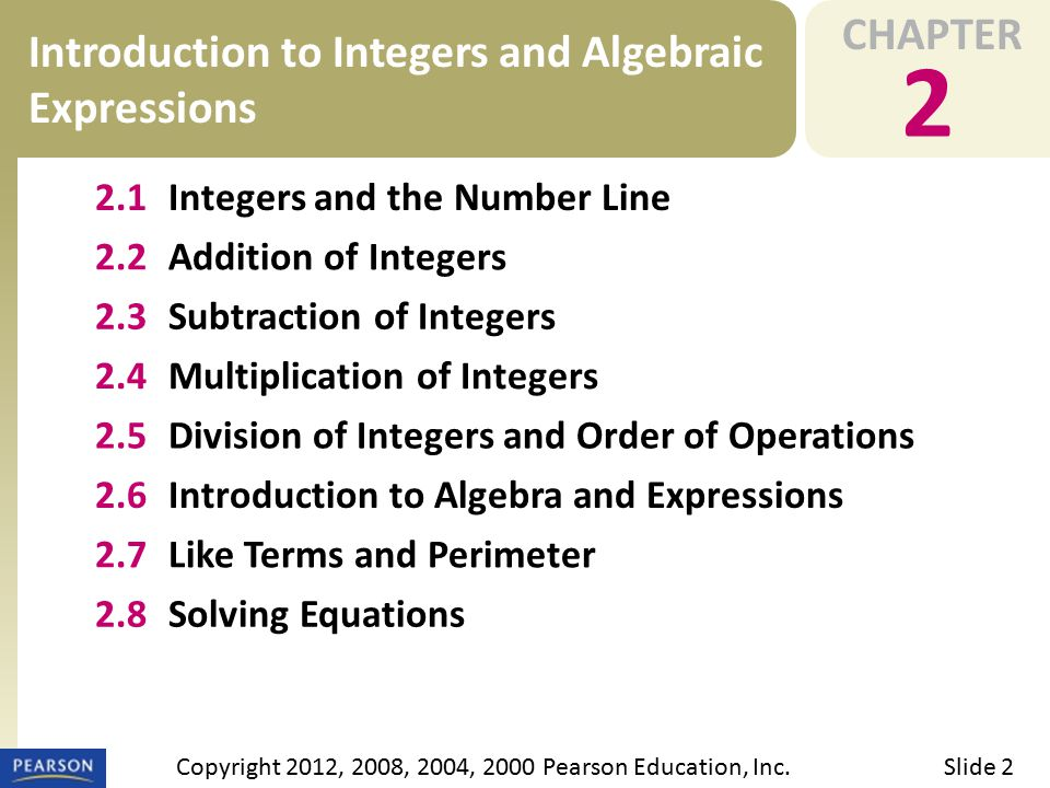 EXAMPLE 2.3 Subtraction of Integers a Subtract integers and simplify combinations of additions and subtractions.