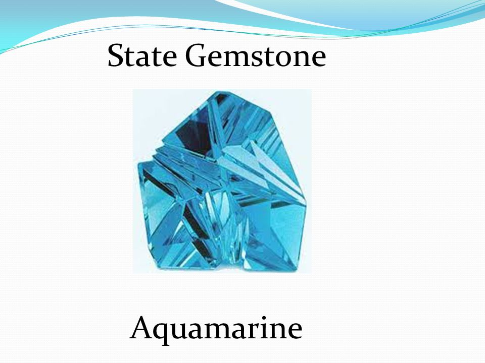 State Gemstone Aquamarine