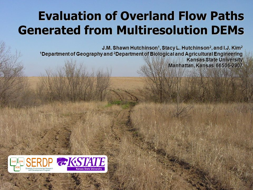 Evaluation of Overland Flow Paths Generated from Multiresolution DEMs J.M.