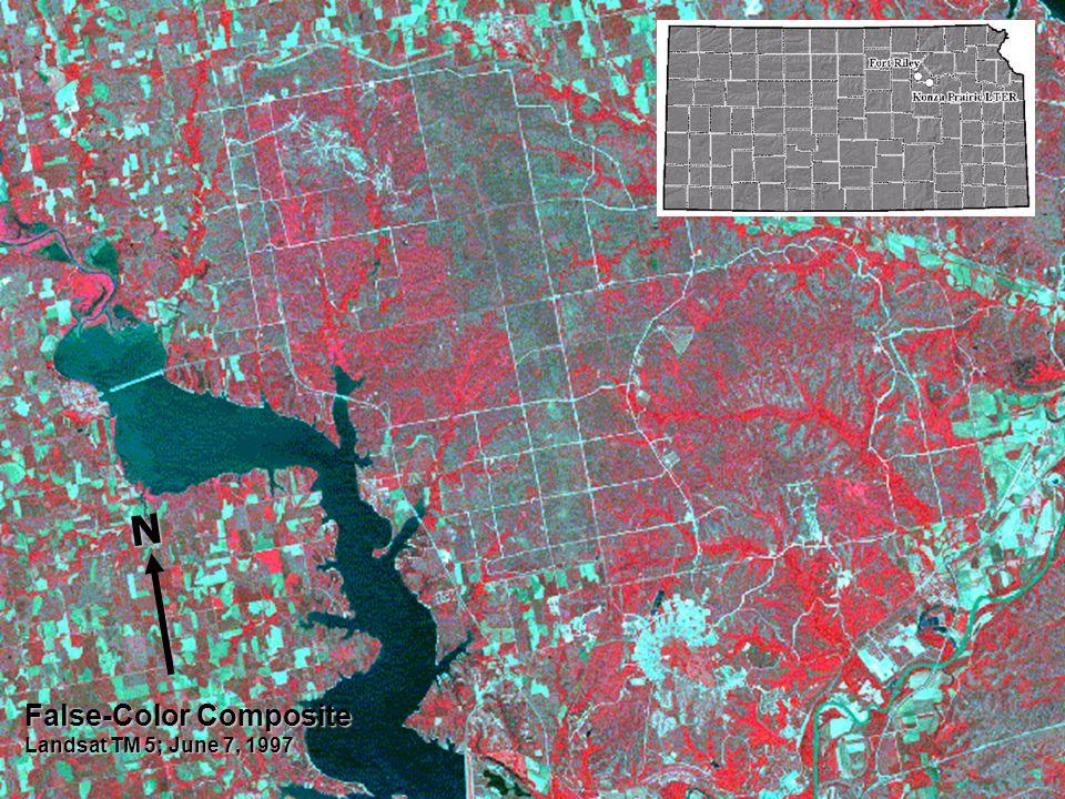 False-Color Composite Landsat TM 5; June 7, 1997 N