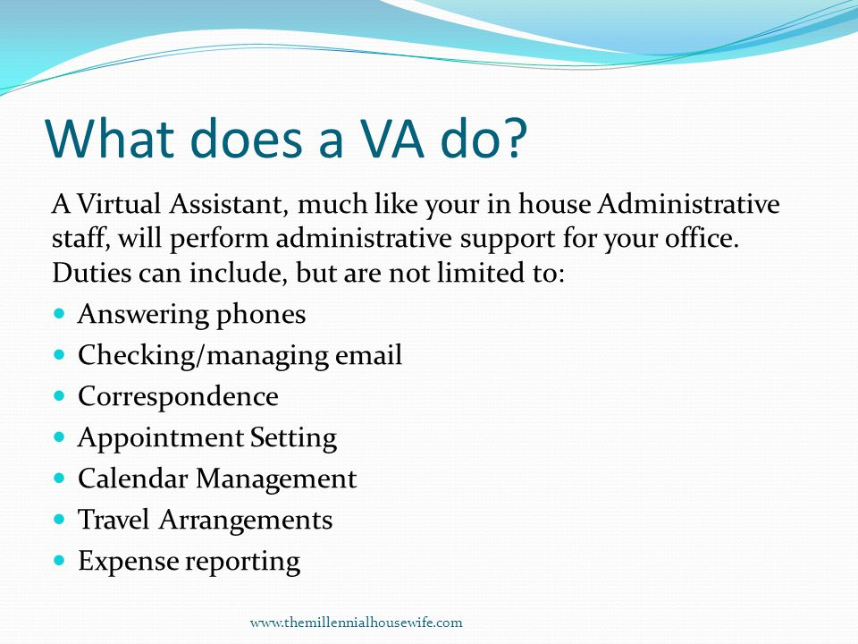 What does a VA do.