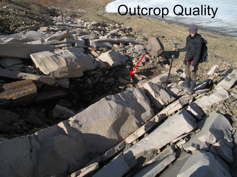 3 rd Member 2 nd Member 1 st Member Creating a Depositional Model 1,050m 250m Total Measured Section First Member Outcrop Quality