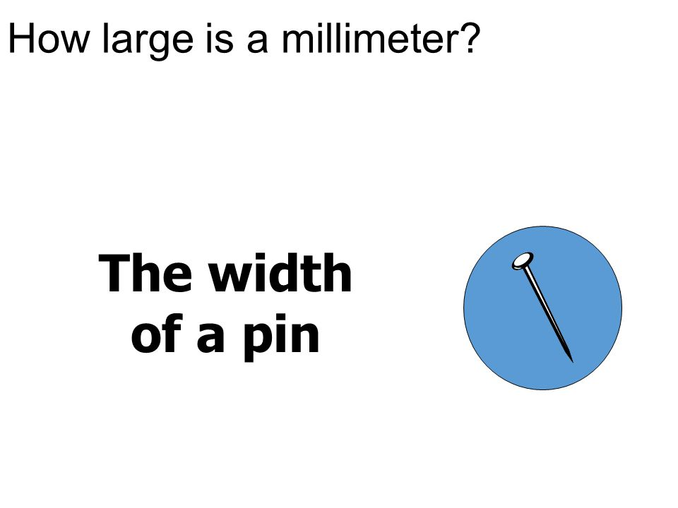 How large is a millimeter? The width of a pin