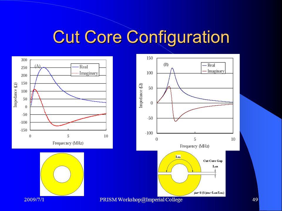 Cut Core Configuration 2009/7/1PRISM Workshop@Imperial College49