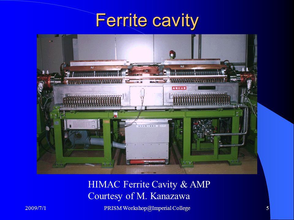 Ferrite cavity HIMAC Ferrite Cavity & AMP Courtesy of M.