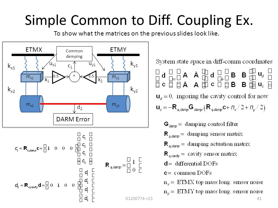 Simple Common to Diff. Coupling Ex.