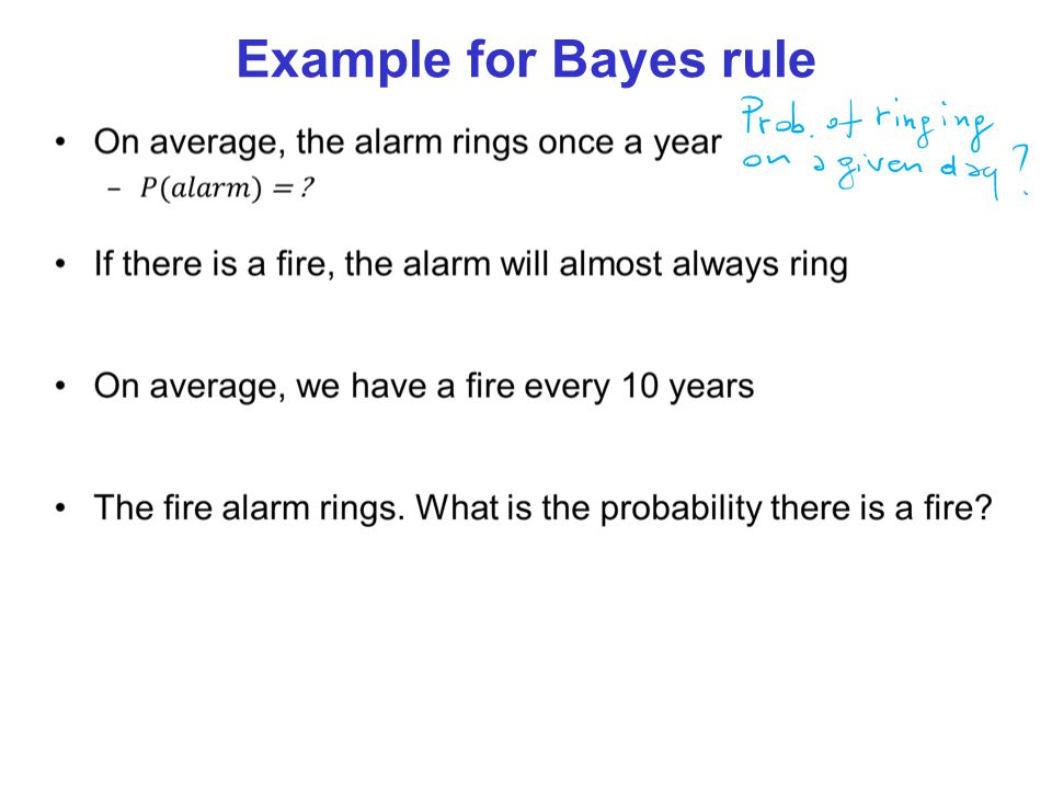 Example for Bayes rule