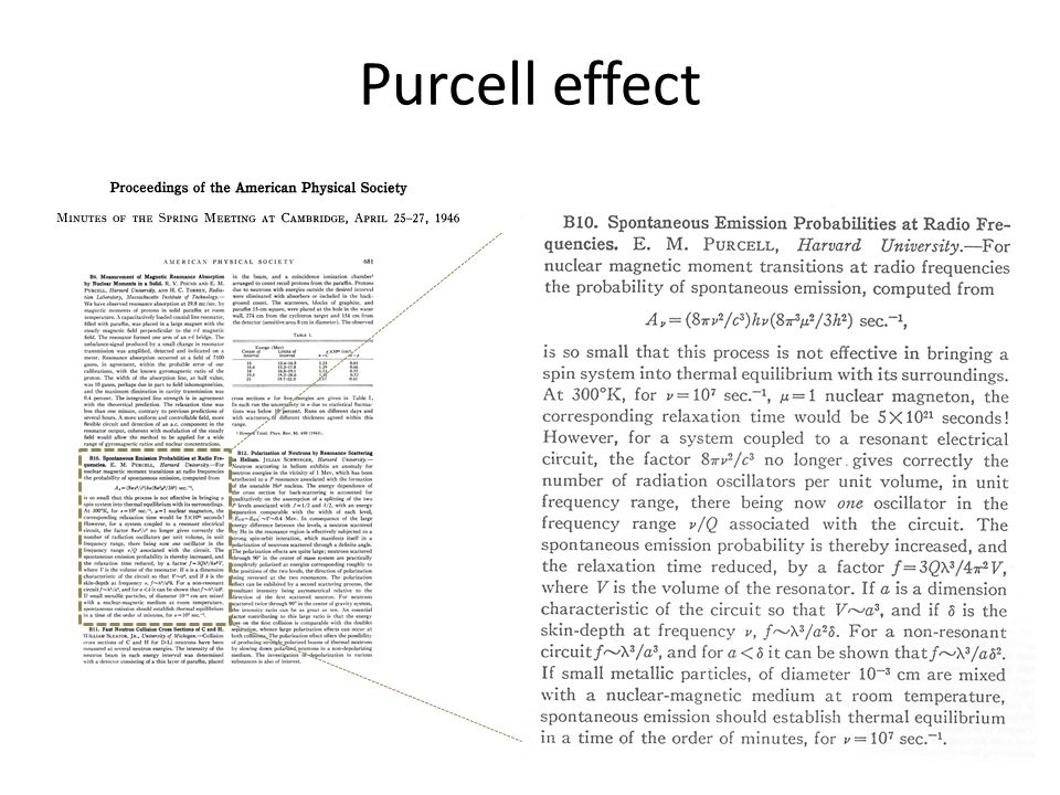 Purcell effect