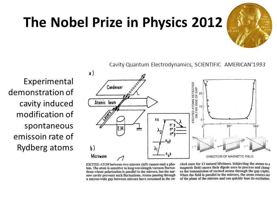 Credit: Nobel Prize The Nobel Prize in Physics 2012 Quantum non-demolition measurement