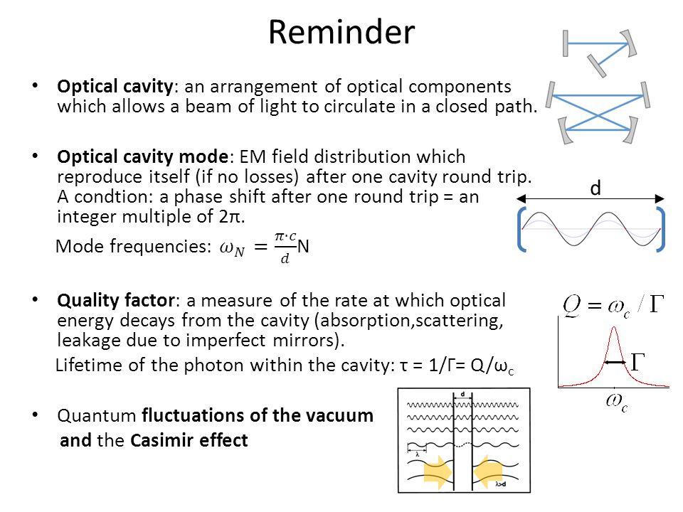 Strong coupling regime emitter – cavity mode detuning Energy levels versus detuning: Anticrossing of levels at emitter – cavity mode resonance