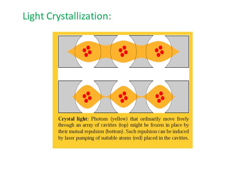Light Crystallization: