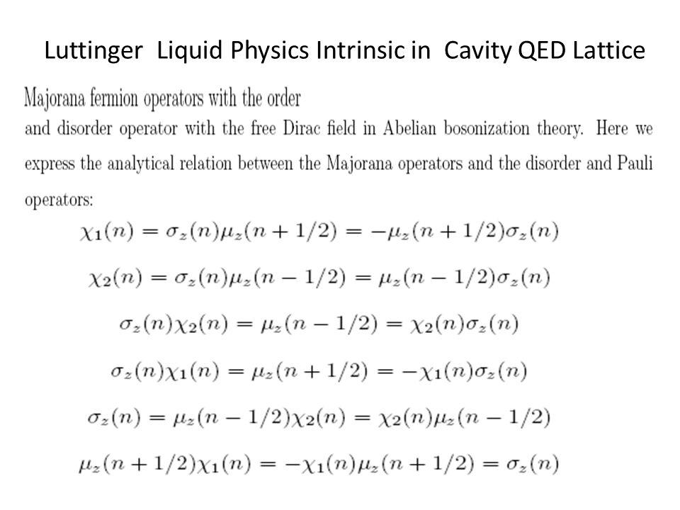 Luttinger Liquid Physics Intrinsic in Cavity QED Lattice