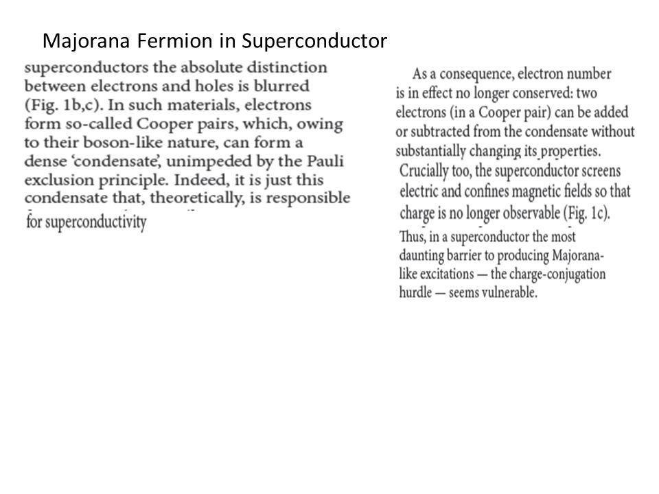 Majorana Fermion in Superconductor