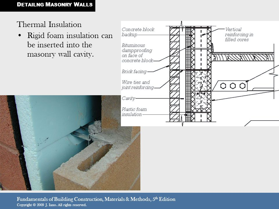 Fundamentals of Building Construction, Materials & Methods, 5 th Edition Copyright © 2009 J. Iano. All rights reserved. Thermal Insulation Rigid foam