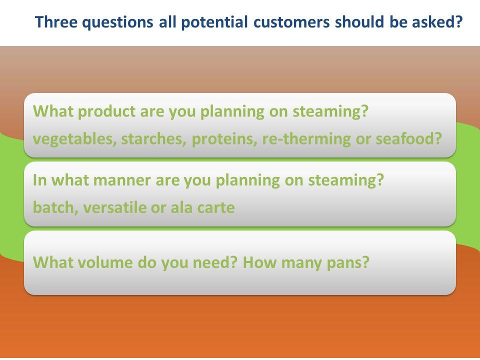 Three questions all potential customers should be asked.