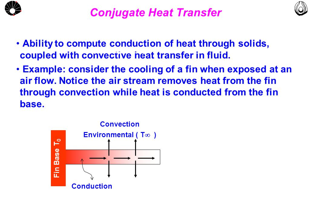 MULTLAB FEM-UNICAMP UNICAMP Conjugate Heat Transfer Ability to compute conduction of heat through solids, coupled with convective heat transfer in fluid.