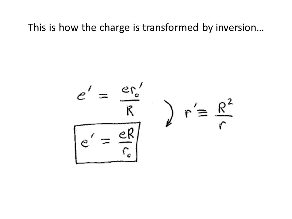 This is how the charge is transformed by inversion…