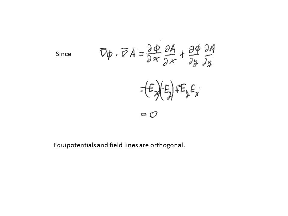 Equipotentials and field lines are orthogonal. Since