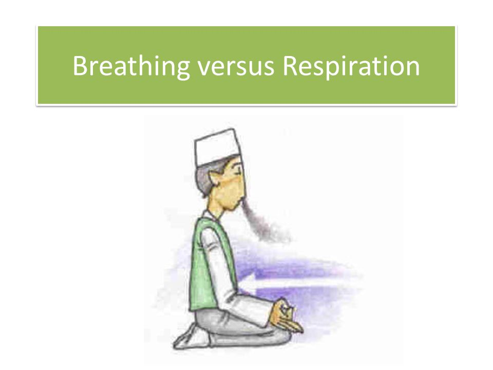 Breathing: The act of bringing air in and out of lungs; consists of inhalation and exhalation; it is an external mechanical process Cellular (Cell) Respiration: When glucose (food) and oxygen combine to produce carbon dioxide, water and ATP energy; occurs in the mitochondria of cells; it is an internal chemical process Breathing: The act of bringing air in and out of lungs; consists of inhalation and exhalation; it is an external mechanical process Cellular (Cell) Respiration: When glucose (food) and oxygen combine to produce carbon dioxide, water and ATP energy; occurs in the mitochondria of cells; it is an internal chemical process Equation: C 6 H 12 O 6 + O 2 CO 2 + H 2 O + ATP