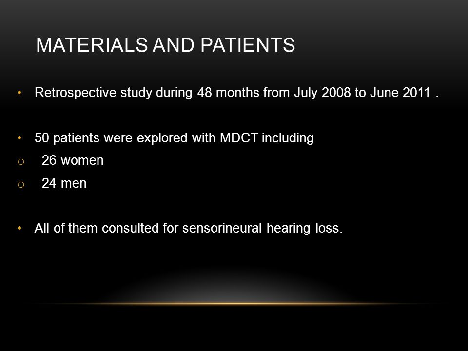 MATERIALS AND PATIENTS Retrospective study during 48 months from July 2008 to June 2011.