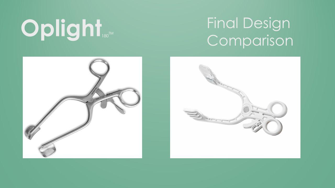 Oplight 180 TM Final Design Comparison