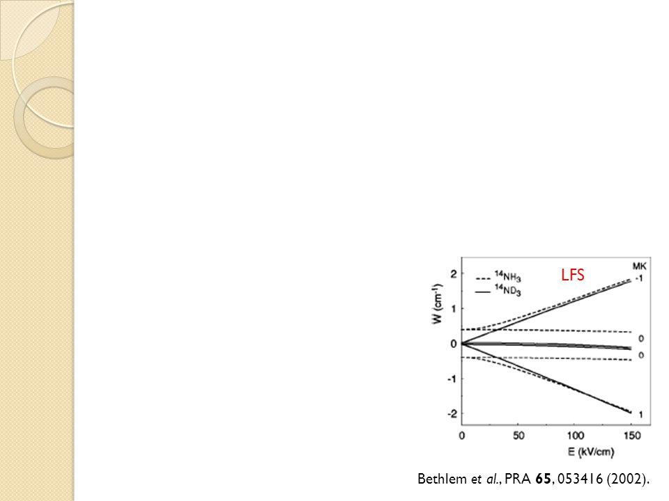 Bethlem et al., PRA 65, 053416 (2002). LFS HFS