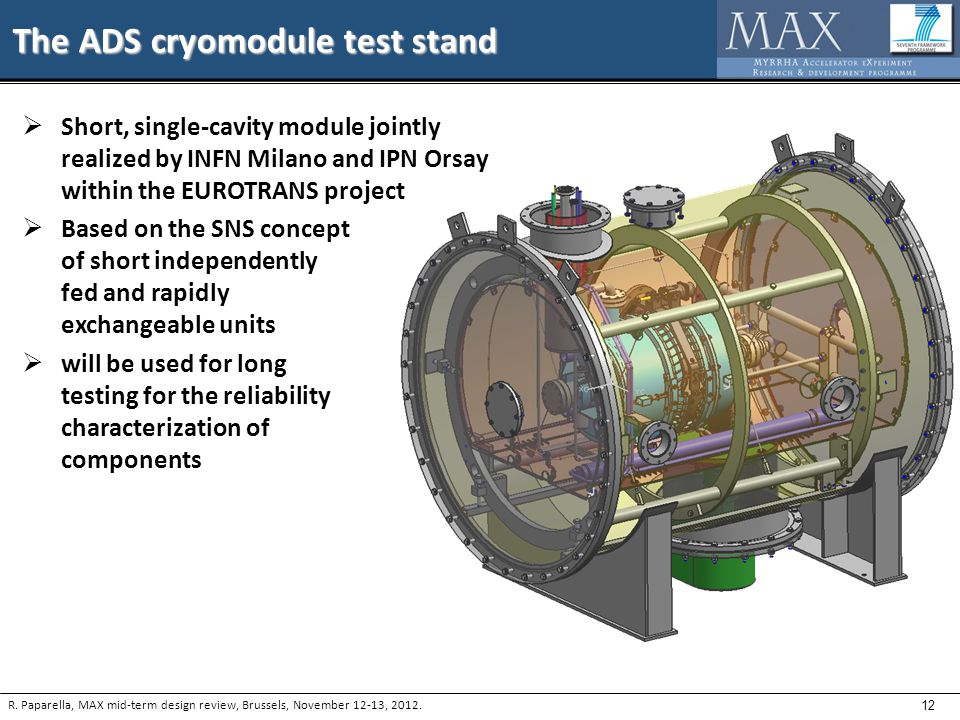 12 The ADS cryomodule test stand R.