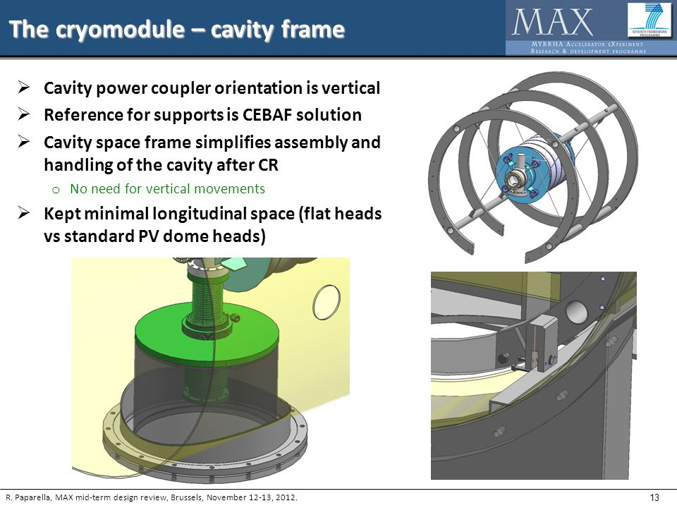13 The cryomodule – cavity frame R.