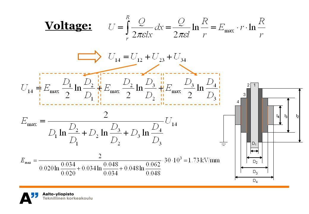 l 4 l 3 l 2 2 3 4 1 l 4 l 3 l 2 D1D1 D 2 D 3 D 4 1 Voltage: