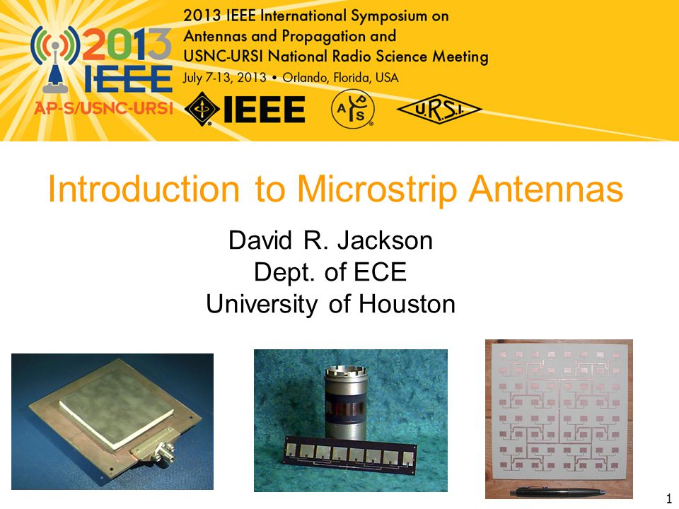 CAD Formulas CAD formulas for the important properties of the rectangular microstrip antenna will be shown.