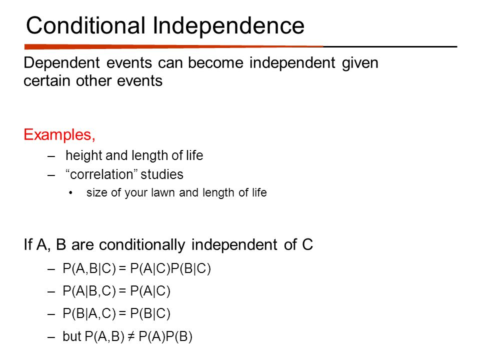 Cavities What independences are encoded (both unconditional and conditional)?