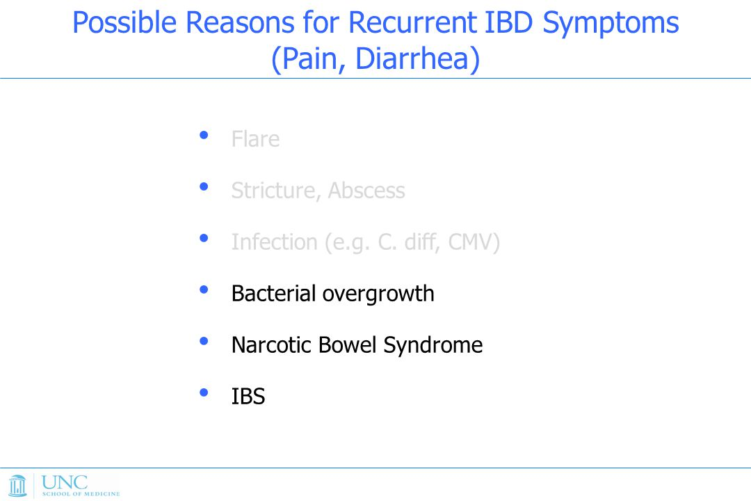 Flare Stricture, Abscess Infection (e.g.C.