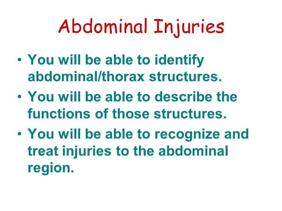 Abdominal Vocabulary Boardlike rigidity - Hardness in the abdomen that can not be relaxed Dyspnea - Difficult breathing Hematuria - blood in the urine