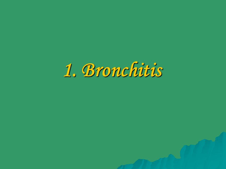 1. Bronchitis