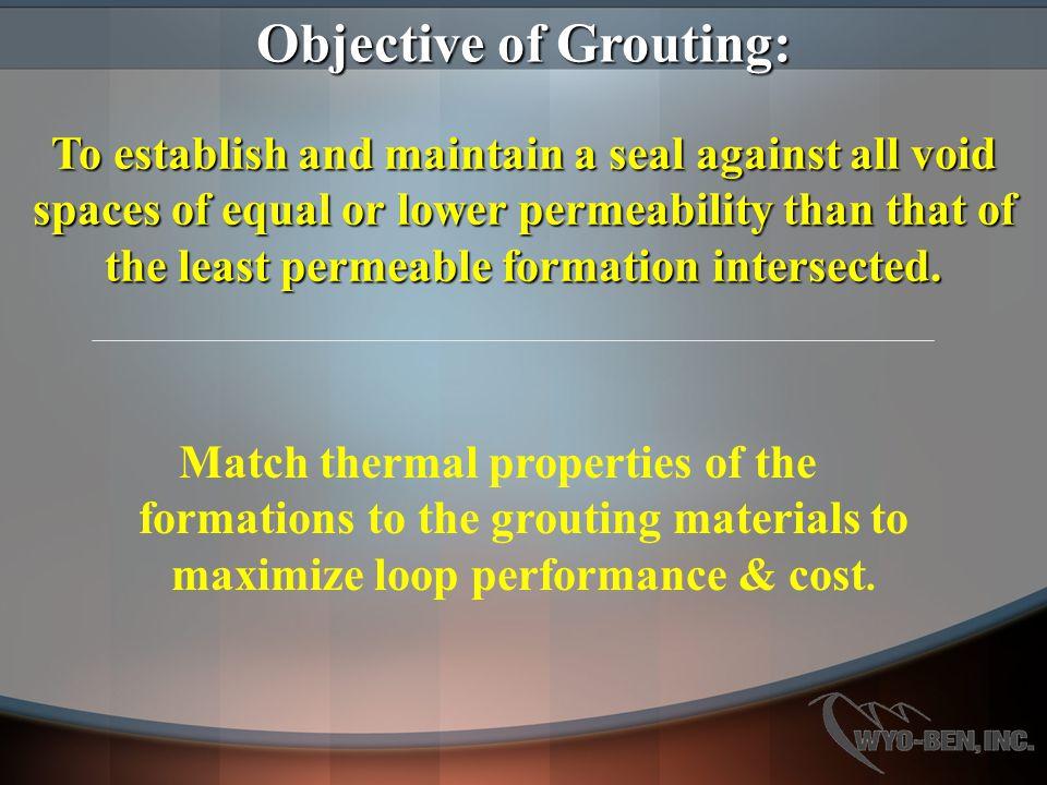 High Solids Bentonite Grouts Pumpability—Low permeability—Cost—Flexible vs.