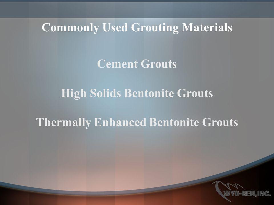 Flowable High Solids Bentonite Grouts
