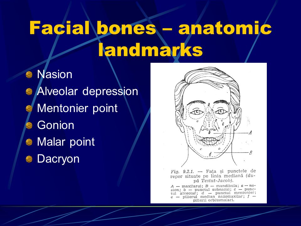 Frontal impact Radiation of the fracture towards the anterior or middle foosa of the base Major risks : orbital cavity, optical nerve, oculomotor and abducens.