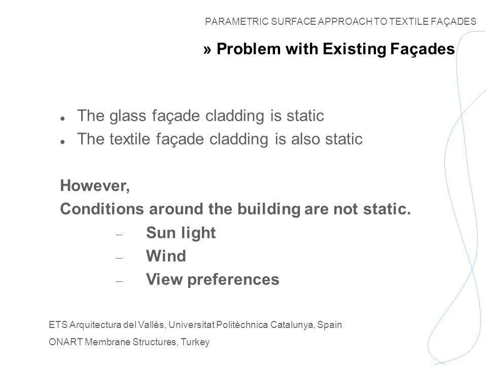 PARAMETRIC SURFACE APPROACH TO TEXTILE FAÇADES ETS Arquitectura del Vallès, Universitat Politèchnica Catalunya, Spain ONART Membrane Structures, Turkey » Model of Façade